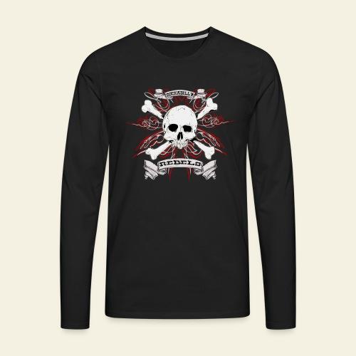 skull - Herre premium T-shirt med lange ærmer