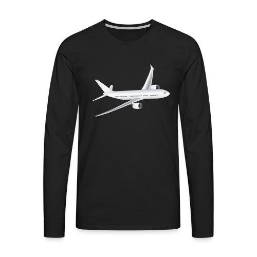 Flugzeug - Männer Premium Langarmshirt