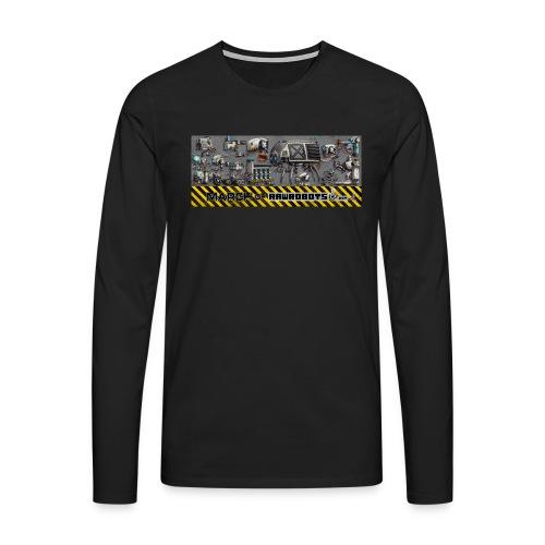 #MarchOfRobots ! LineUp Nr 1 - Herre premium T-shirt med lange ærmer