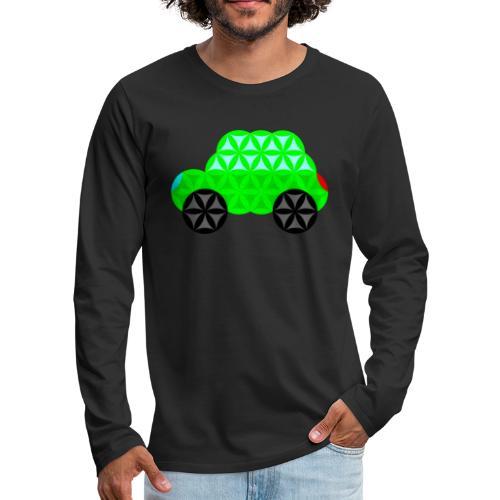 The Car Of Life - M01, Sacred Shapes, Green/R01. - Men's Premium Longsleeve Shirt