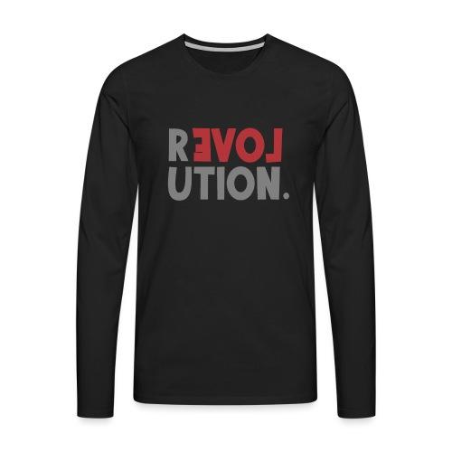 Revolution Love Sprüche Statement be different - Männer Premium Langarmshirt