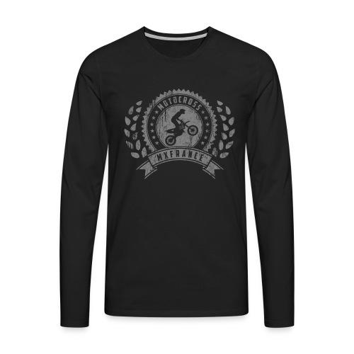 Motocross Retro Champion - T-shirt manches longues Premium Homme