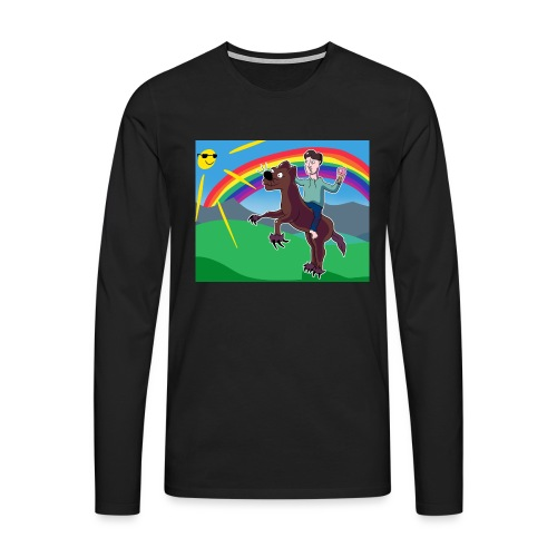 Regnbue Strandfisk Musematte - Premium langermet T-skjorte for menn