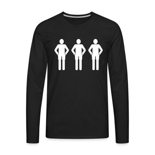 3weiß - Männer Premium Langarmshirt