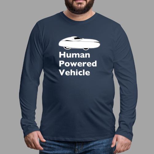 Quest Human Powered Vehicle 2 white - Miesten premium pitkähihainen t-paita