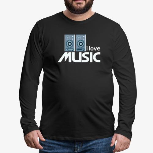 Amo la música 02 - Camiseta de manga larga premium hombre