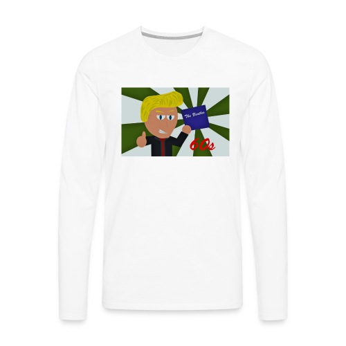 1960-luku - Miesten premium pitkähihainen t-paita