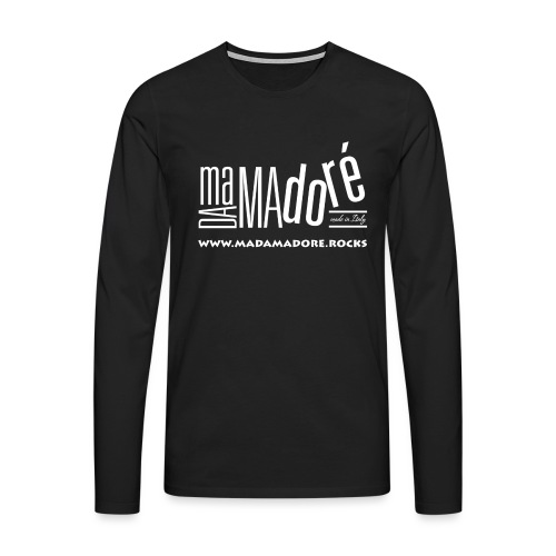 T-Shirt Premium - Uomo - Logo Bianco S + Sito - Maglietta Premium a manica lunga da uomo
