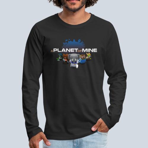 logo planetofmine dark HD - T-shirt manches longues Premium Homme