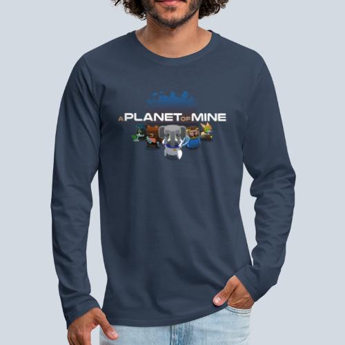 logo planetofmine dark HD - T-shirt manches longues Premium Homme