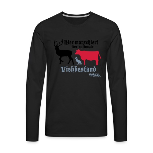 Motiv nationaler Viehbestand - Männer Premium Langarmshirt