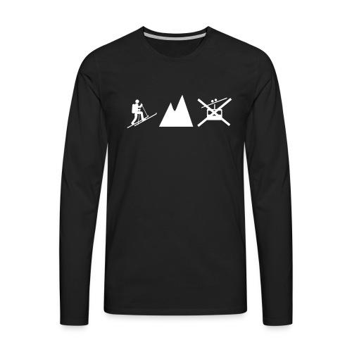 Skitouren Gipfelstürmer - Männer Premium Langarmshirt