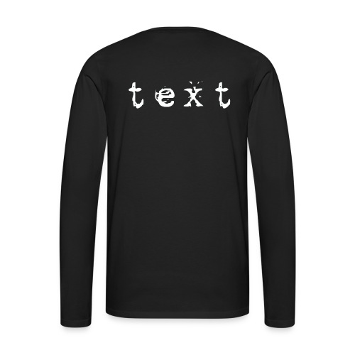 text - Männer Premium Langarmshirt