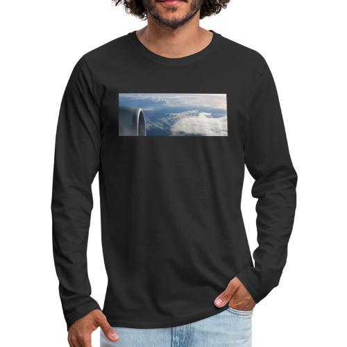 Flugzeug Himmel Wolken Australien - Männer Premium Langarmshirt