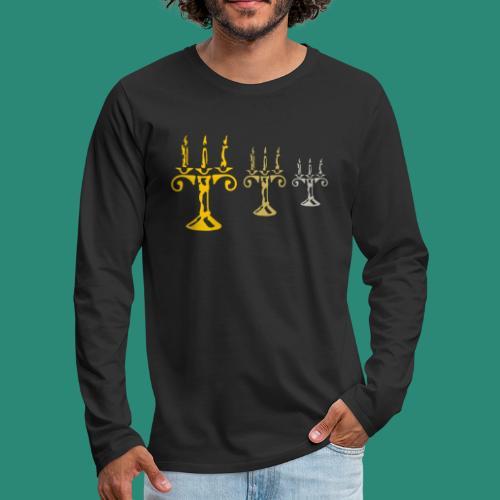 edles Kerzenlicht - Männer Premium Langarmshirt