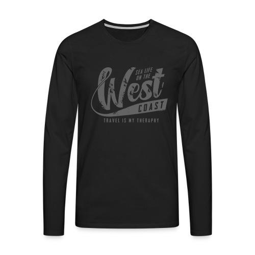 West Coast Sea Surfer Textiles, Gifts, Products - Miesten premium pitkähihainen t-paita