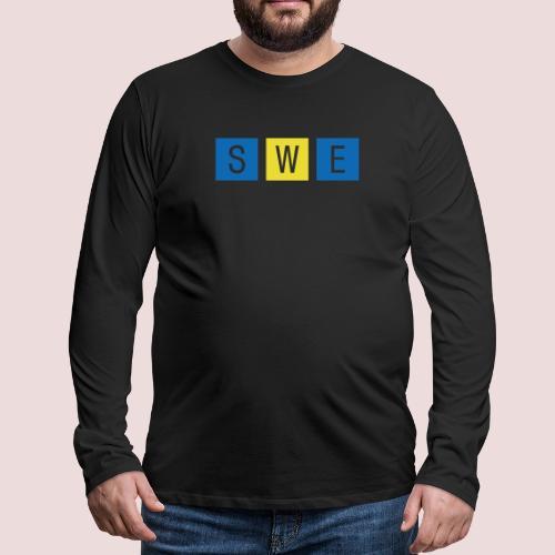 SWE - Långärmad premium-T-shirt herr
