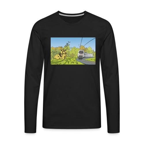 Raupe und Zug - Männer Premium Langarmshirt