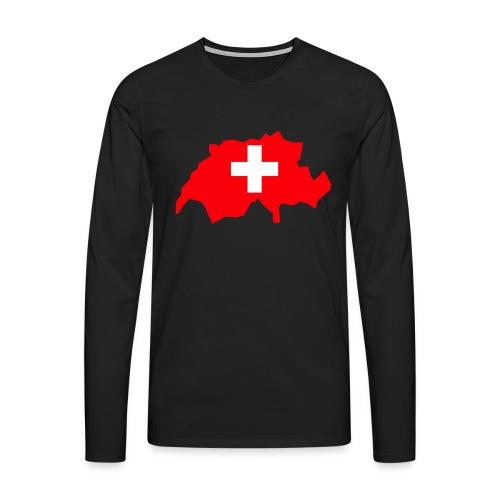 Switzerland - Mannen Premium shirt met lange mouwen