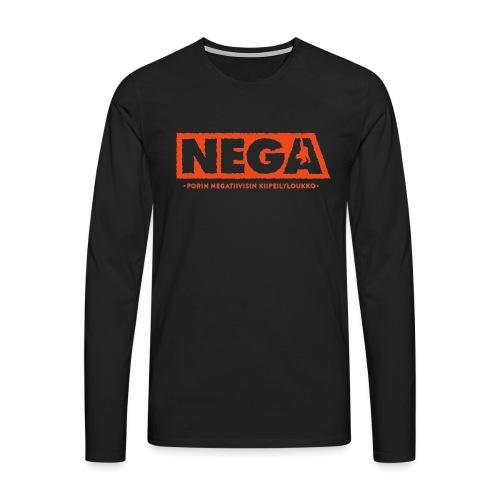 Painija peruslogo Miehet - Miesten premium pitkähihainen t-paita