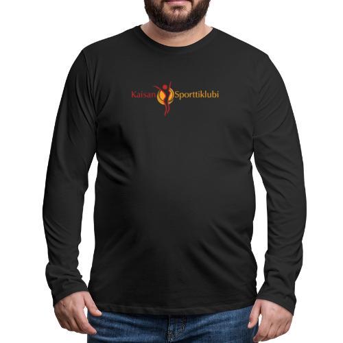 Kaisan Sporttiklubi logo - Miesten premium pitkähihainen t-paita