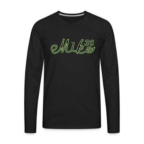 mike38teksti - Miesten premium pitkähihainen t-paita