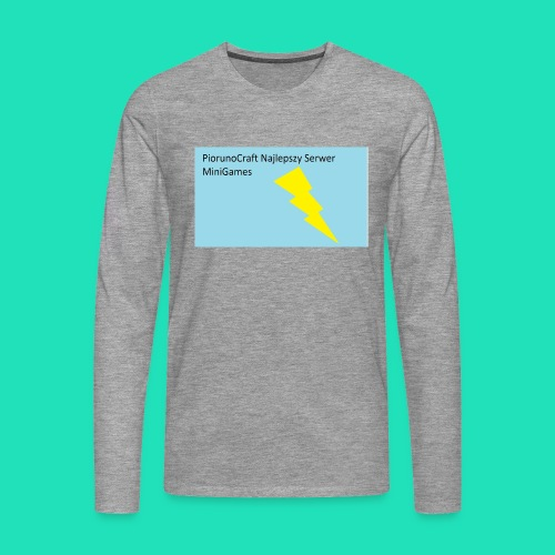 Piorunowe Na Telefon 5s - Koszulka męska Premium z długim rękawem