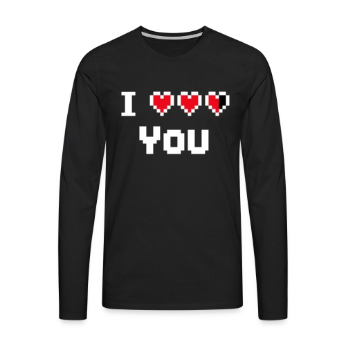 I pixelhearts you - Mannen Premium shirt met lange mouwen