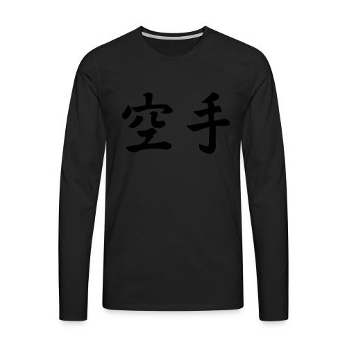 karate - Mannen Premium shirt met lange mouwen