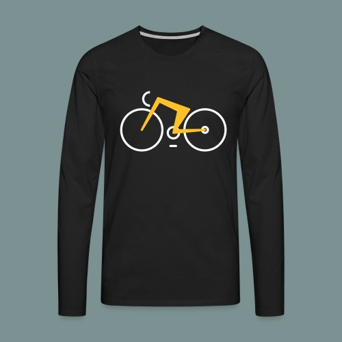 Bikes against cancer - Herre premium T-shirt med lange ærmer