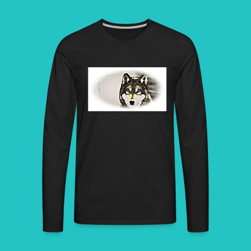 Bluza Wilk - Koszulka męska Premium z długim rękawem
