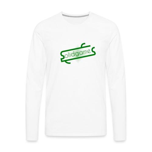 Solidgames Crewneck Grey - Men's Premium Longsleeve Shirt