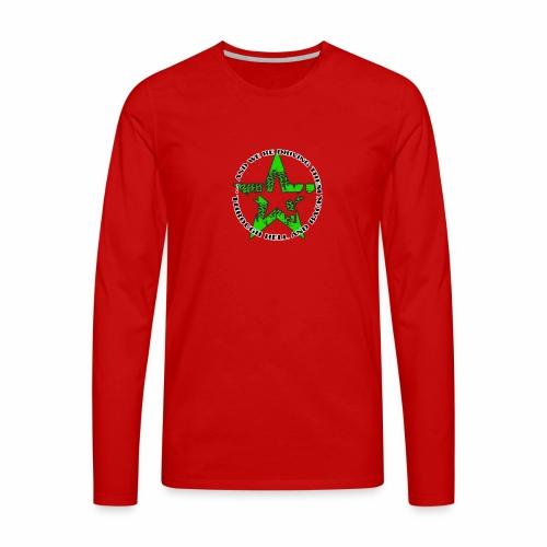 ra star slogan slime png - Männer Premium Langarmshirt