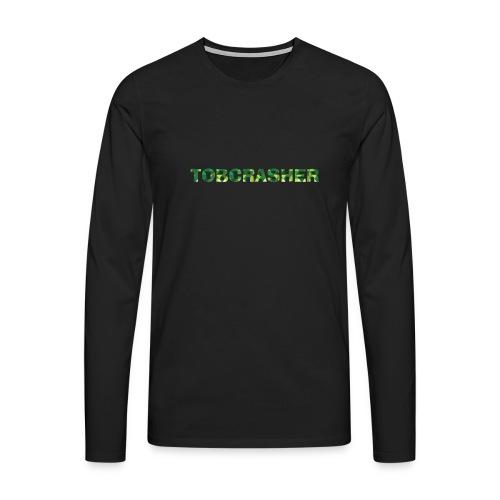 Tshirt Green triangles big - Männer Premium Langarmshirt