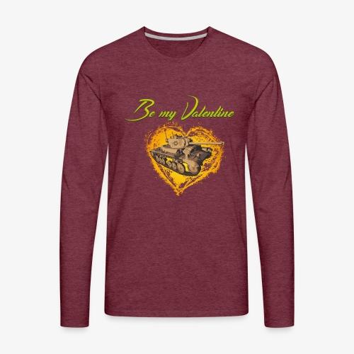 Glowing Valentine Heart - Männer Premium Langarmshirt