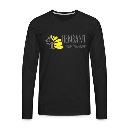 henbant logo - Men's Premium Longsleeve Shirt