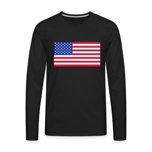 USA / United States - Mannen Premium shirt met lange mouwen