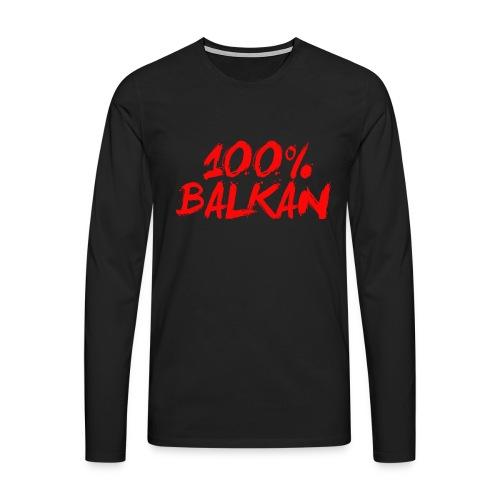 100% Balkan - Männer Premium Langarmshirt