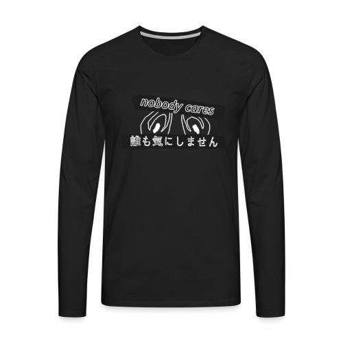 nobody cares po japońsku (passé) - Koszulka męska Premium z długim rękawem