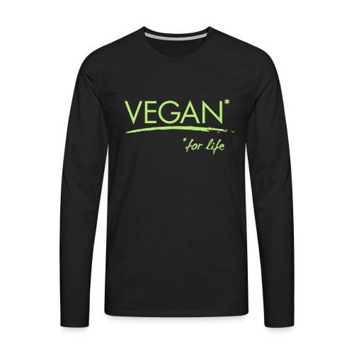 vegan for life 1c - Männer Premium Langarmshirt