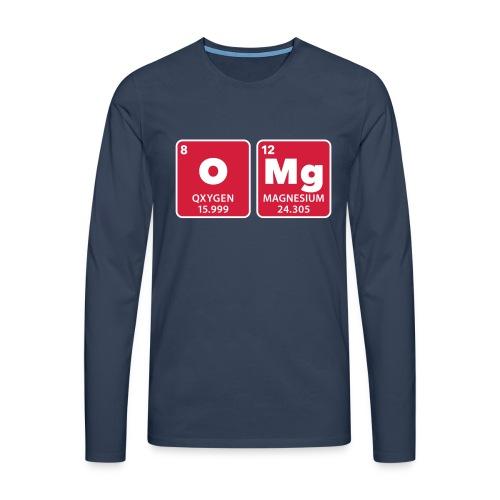 periodic table omg oxygen magnesium Oh mein Gott - Men's Premium Longsleeve Shirt