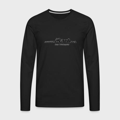 iSauf-Schriftzug - Männer Premium Langarmshirt