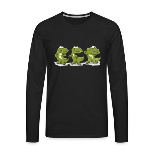 Nice krokodile - Männer Premium Langarmshirt