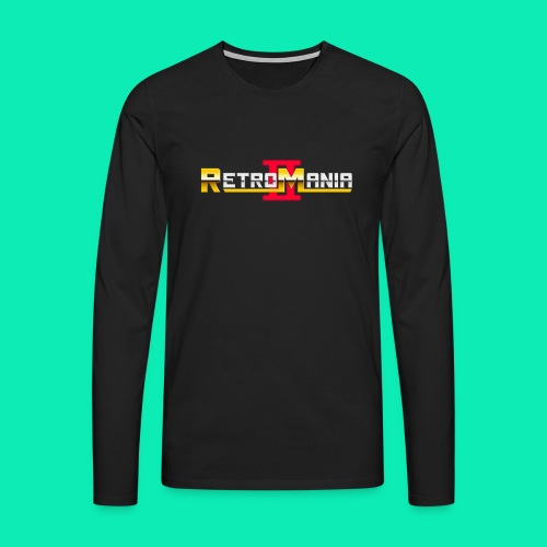 Retro Mania II - Logo - Männer Premium Langarmshirt