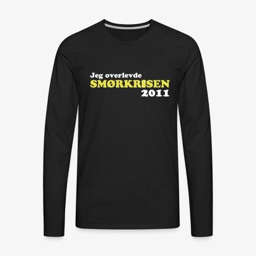 Smørkrise 2011 - Norsk - Premium langermet T-skjorte for menn