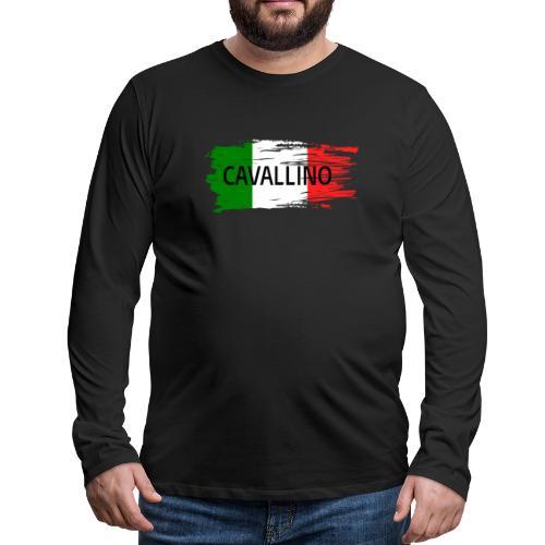Cavallino auf Flagge - Männer Premium Langarmshirt