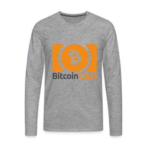 Bitcoin Cash - Miesten premium pitkähihainen t-paita