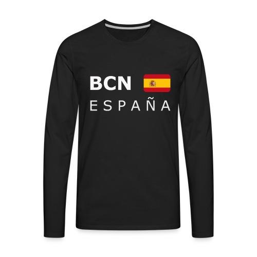 BCN ESPAÑA white-lettered 400 dpi - Men's Premium Longsleeve Shirt
