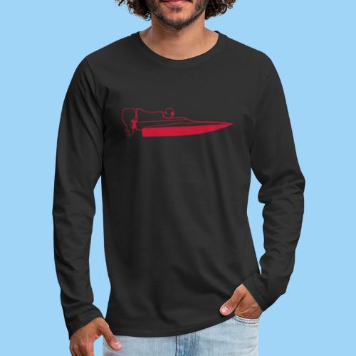 Powerboat GT30/GT15 Red - Långärmad premium-T-shirt herr