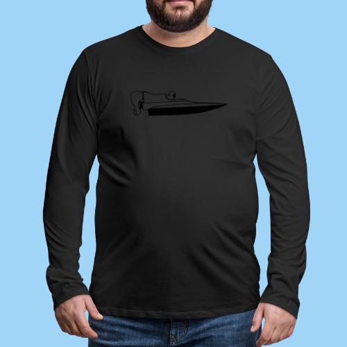 Powerboat GT30/GT15 Black - Långärmad premium-T-shirt herr